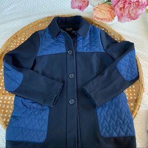 Topshop Blue wool coat  quilt pockets